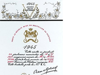 Most expensive large bottle of wine: Mouton-Rothschild 1945